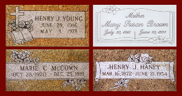 Popular Marker Design - Headstones for Graves