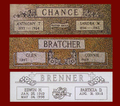 Bevel Markers - Headstone Designs
